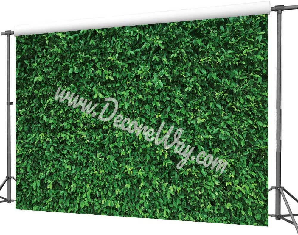 7x5FT Green Leaves Microfiber Nature Photography Backdrops
