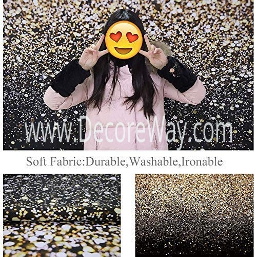 8x6ft Gold Glitter Paint Backdrop New Year Party Decor Portrait Shooting Photo Studio Booth