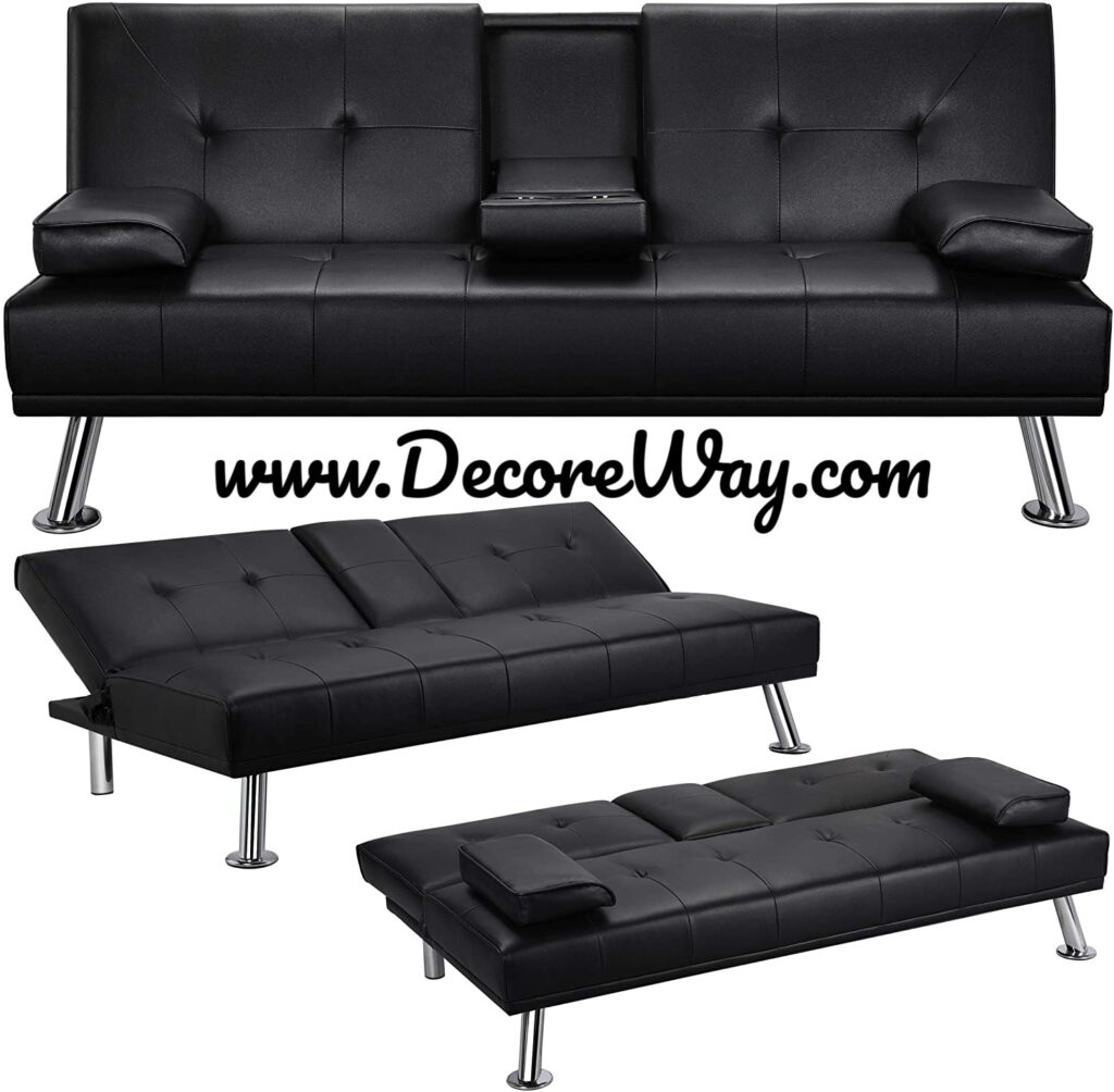 Convertible Sofa Couch Sleeper with Armrest Living Room Furniture