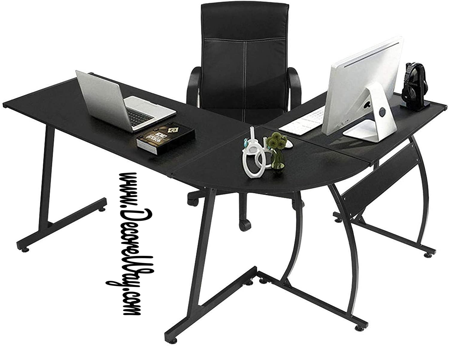 L Shaped Gaming Table Workstation for Home Office Bedroom