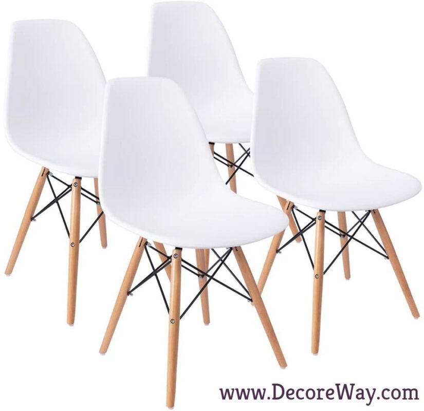 Mid Century Modern DSW Shell Lounge Plastic Kitchen Dining Chairs