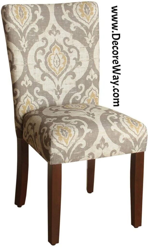 Modern Dining Room Side Chairs with Fabric Cushion Seat Back