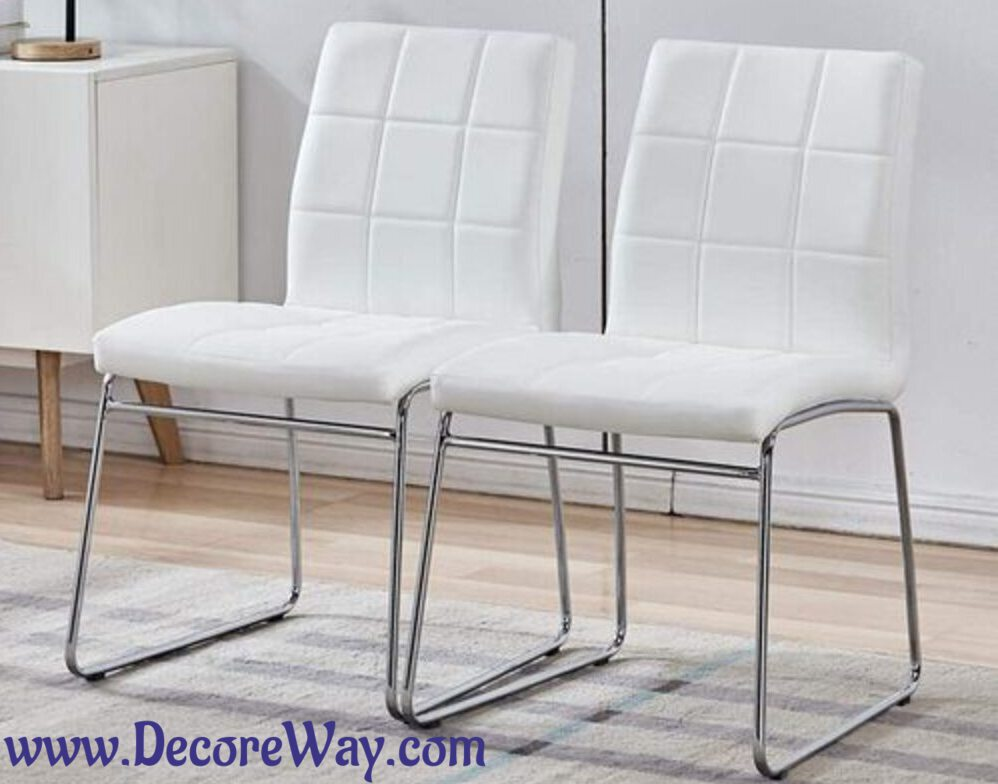 Modern Faux Leather Dining Chairs Indoor Use