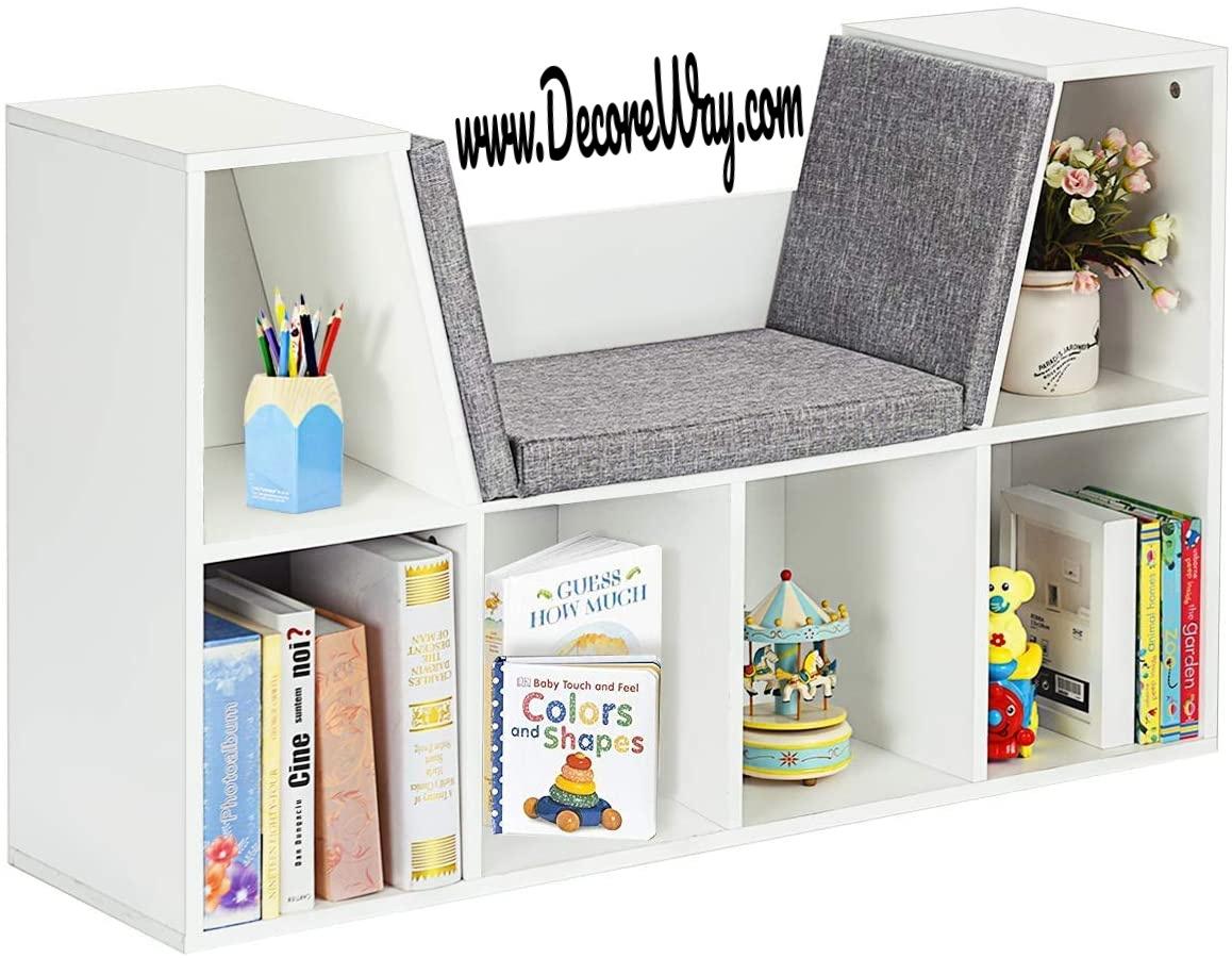 Multi Purpose Storage Organizer Cabinet Shelf with Soft Cushion and Thick Wood