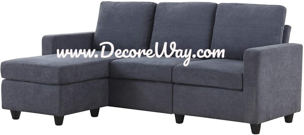 Sectional Sofa Couch L Shaped Couch with Modern Linen Fabric