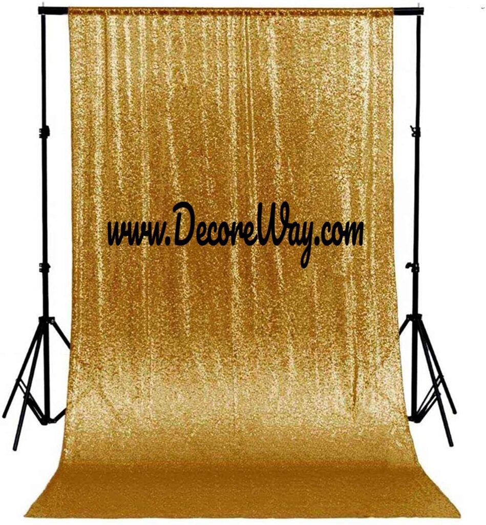 Shiny Beauty Sequin Backdrop 4FTx6FT Gold