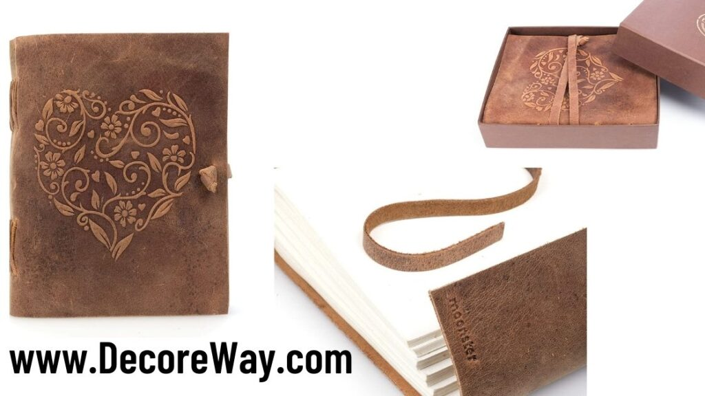 Leather Journal Lined Paper Handmade Leather Bound Writing Notebook