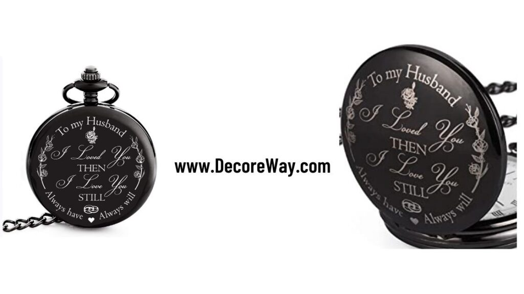 Pocket Watch Gift for Husband