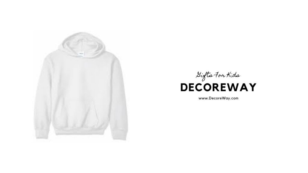 Youth White Hooded Sweatshirt