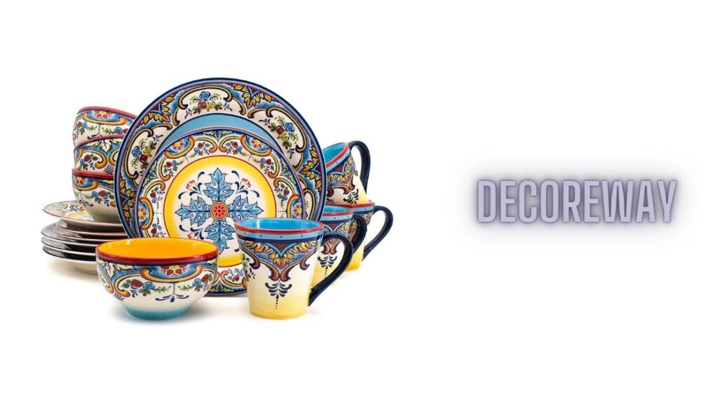 Blue And Yellow Dinnerware Sets