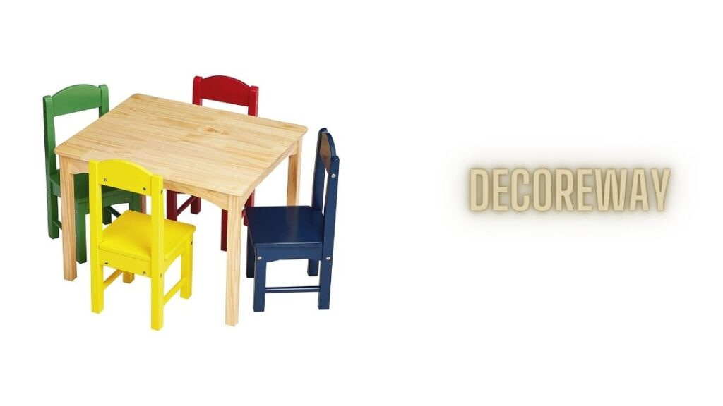 Kids Wood Table And 4 Chairs Sets