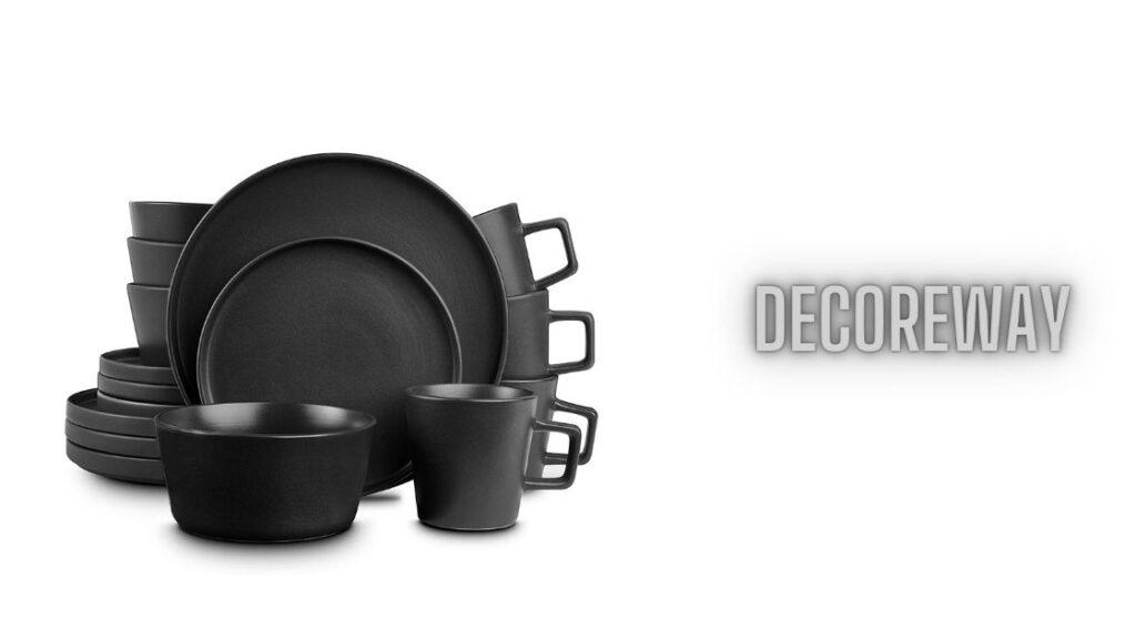 Matte Black Dinnerware Sets
