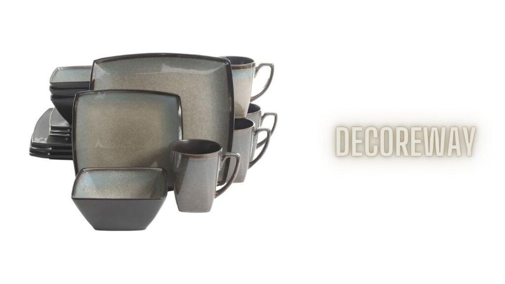 Square Stoneware Dinnerware Sets