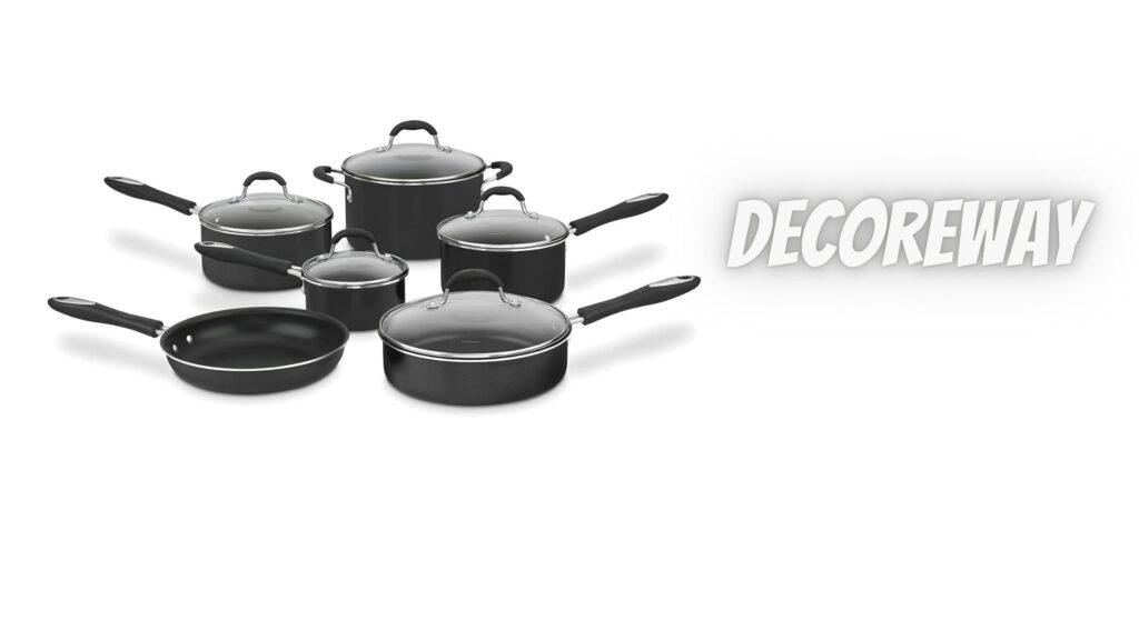 11 Pieces Cookware Set Black