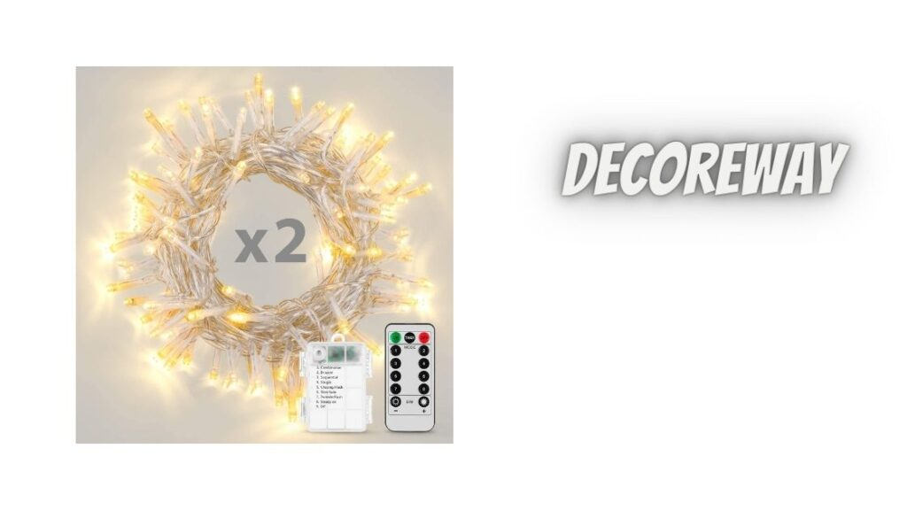 2 Pack Battery Operated String Lights With Remote Timer