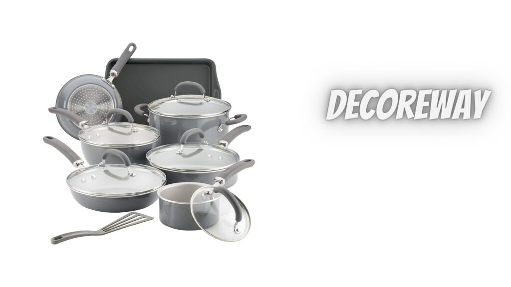 Grey Pots And Pans Set Non Stick