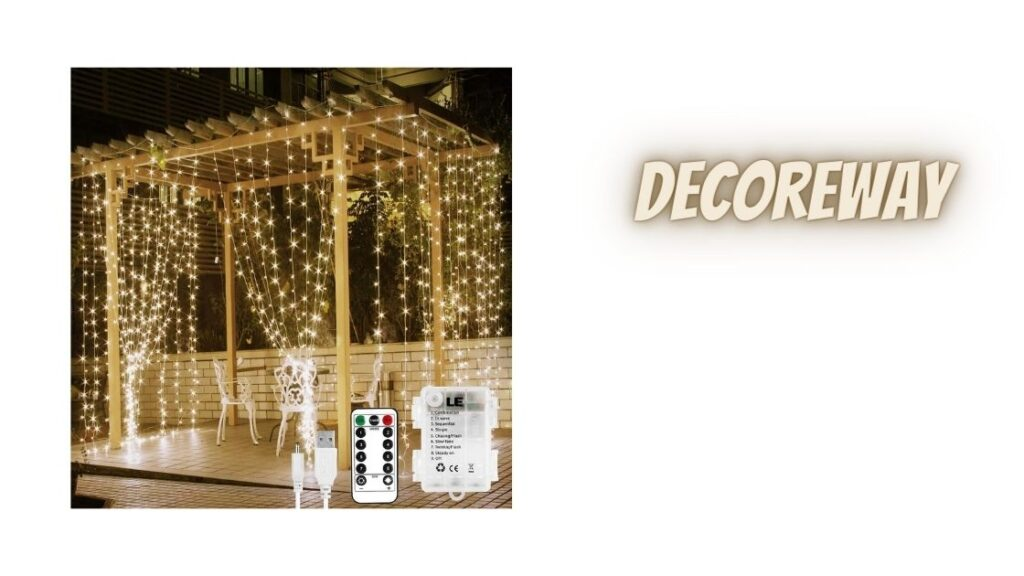 Outdoor Curtain Fairy Lights Battery Operated