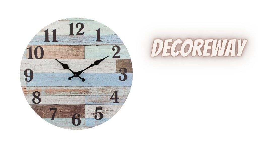 Round Battery Operated Wall Clock Multicolor