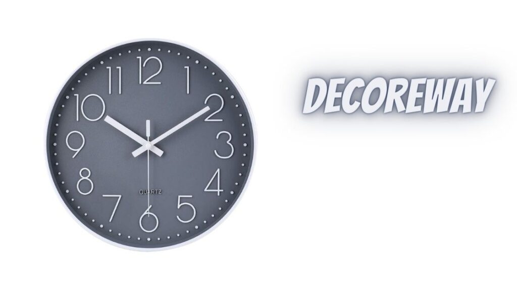 Round Battery Operated Wall Grey Clock