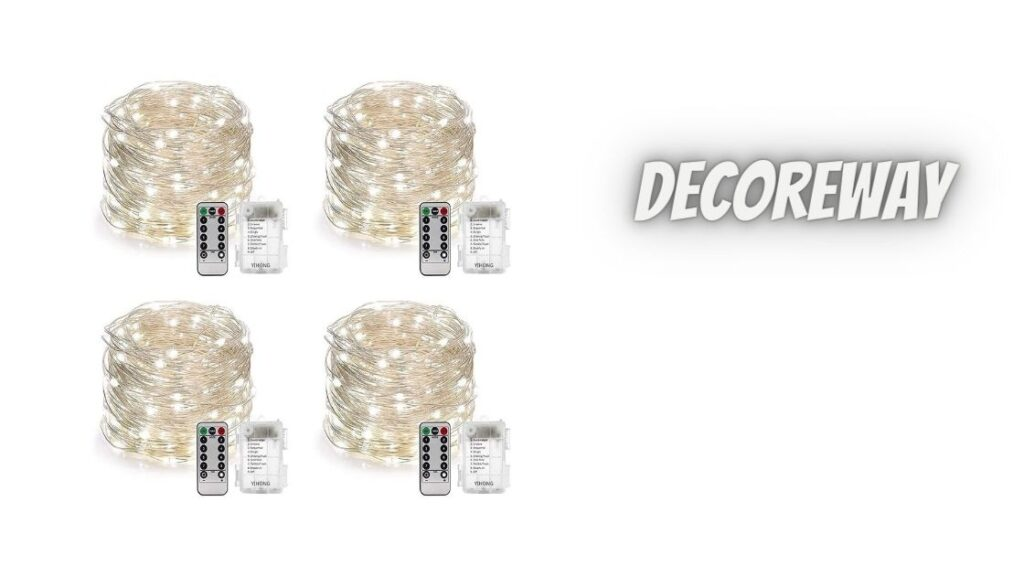 Set Of 4 Fairy Lights Battery Operated