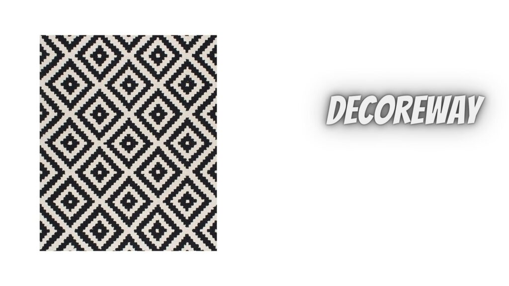 White And Black Area Rugs