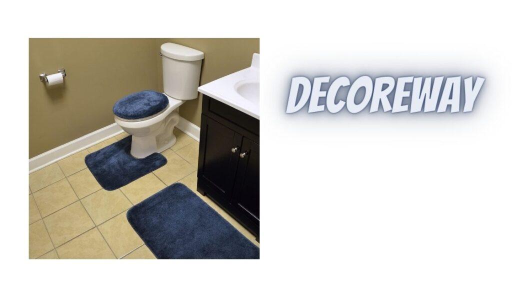 Bathroom Rug Set Of 3 Piece Navy Blue