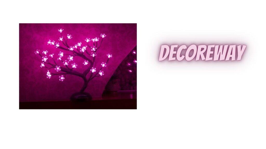 Battery Powered Pink Tree Lights