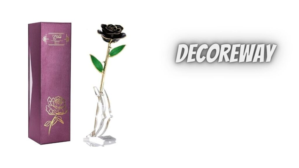 Best Black Gold Dipped Rose With Stand