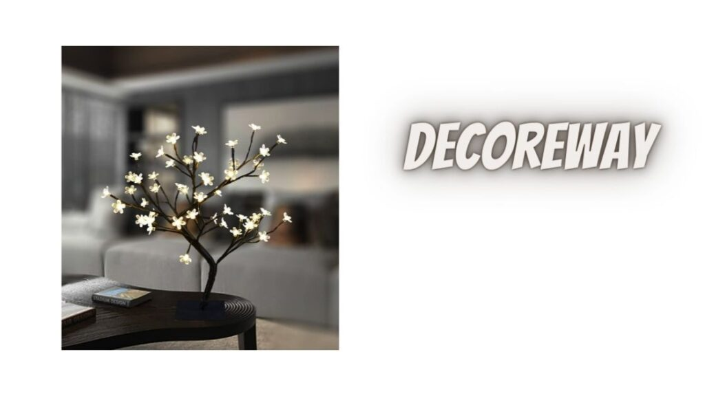 LED Warm White Lights Metal Base Tree