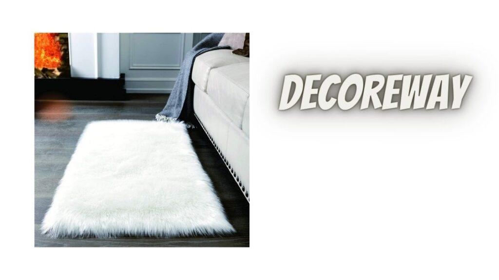 Soft White Fluffy Rug For Bedroom