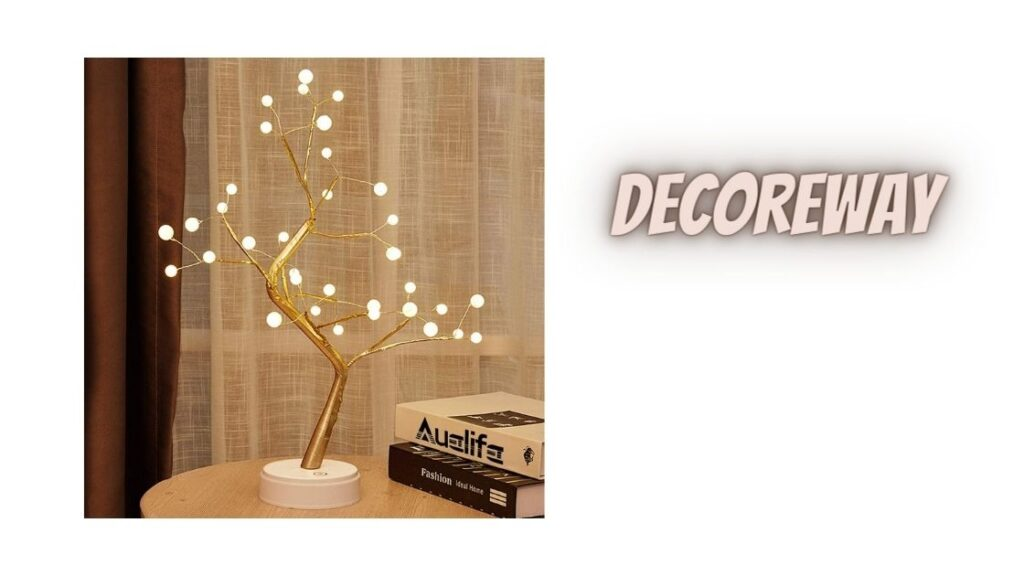 Tabletop Tree Light with 36 Pearls