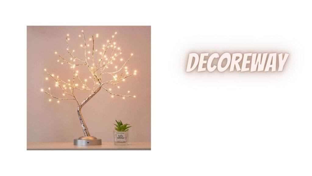 Warm White Silver Copper Tree Light 1