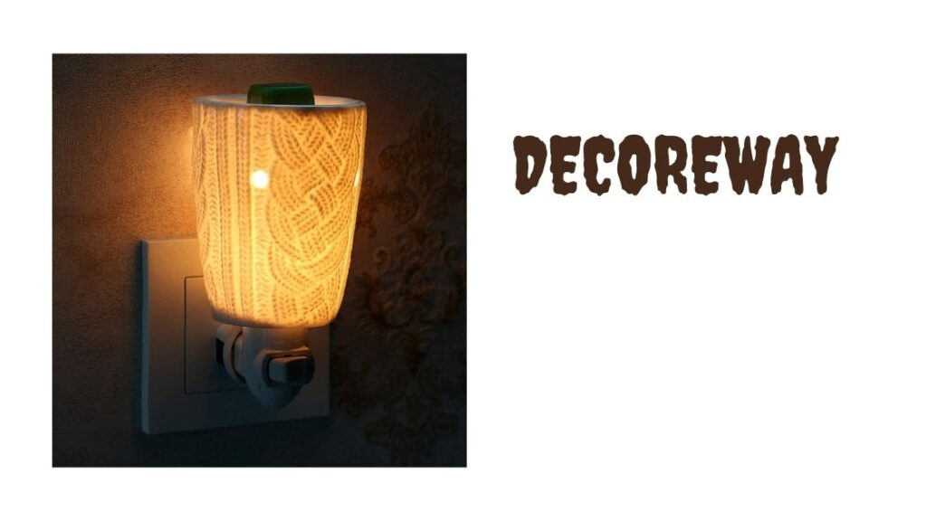 Ceramic Fragrance Warmer With Two Bulbs
