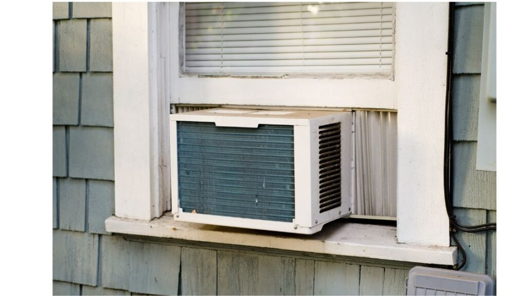 how to install portable air conditioner in horizontal sliding window 2