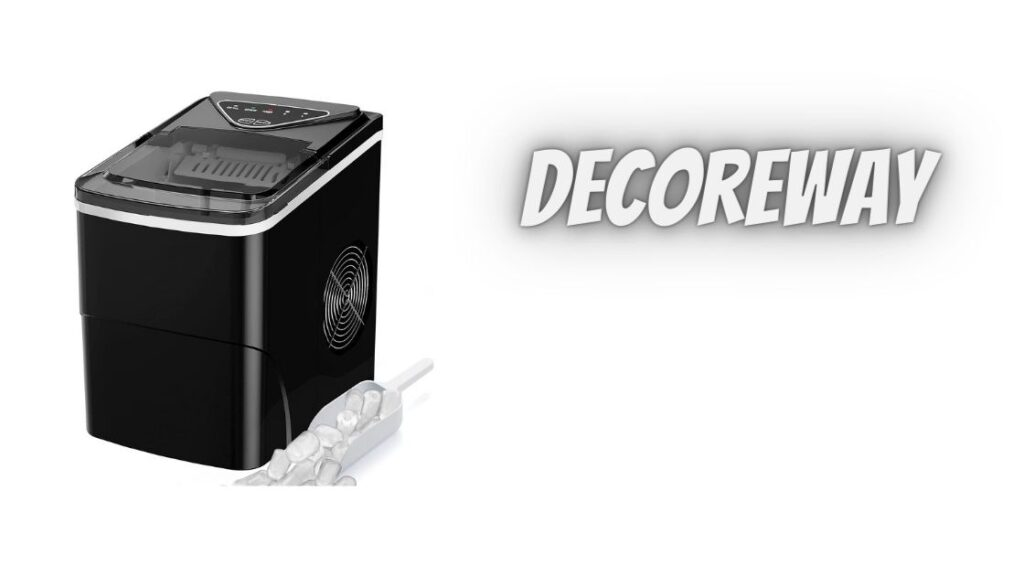 Black Self Cleaning Portable Ice Maker