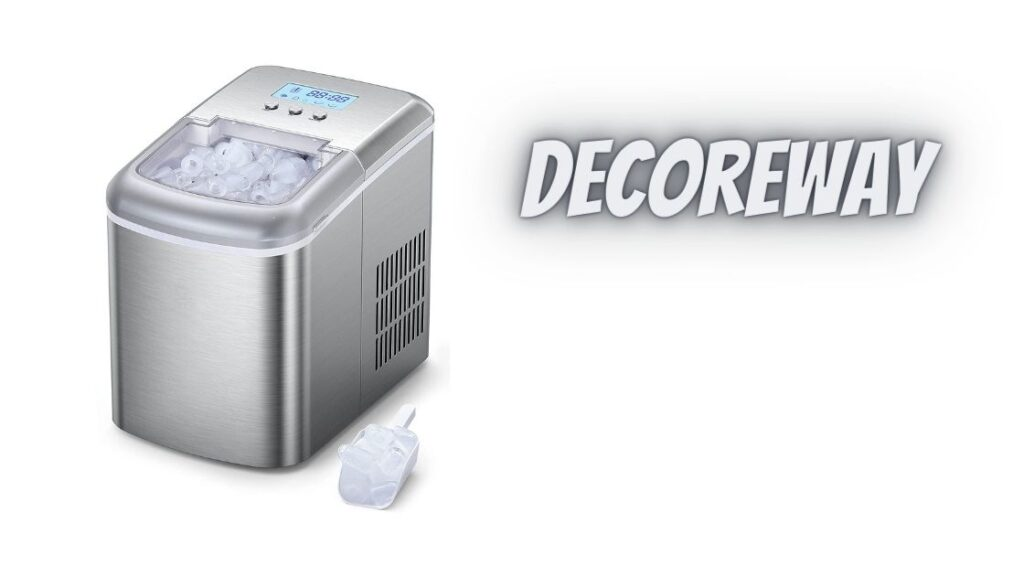 Electric Ice Maker With Scoop Basket